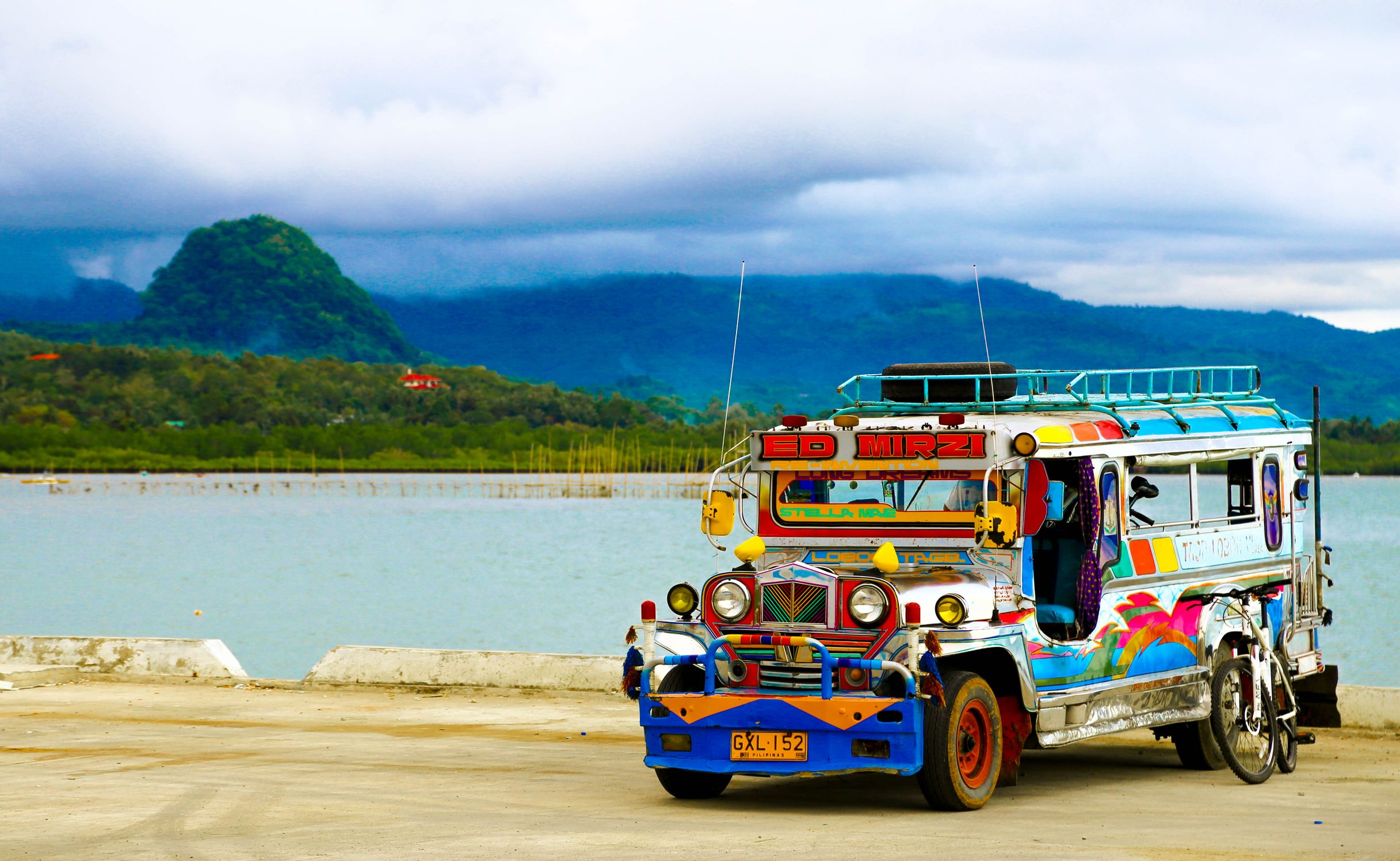 Jeepney parked on the roadside