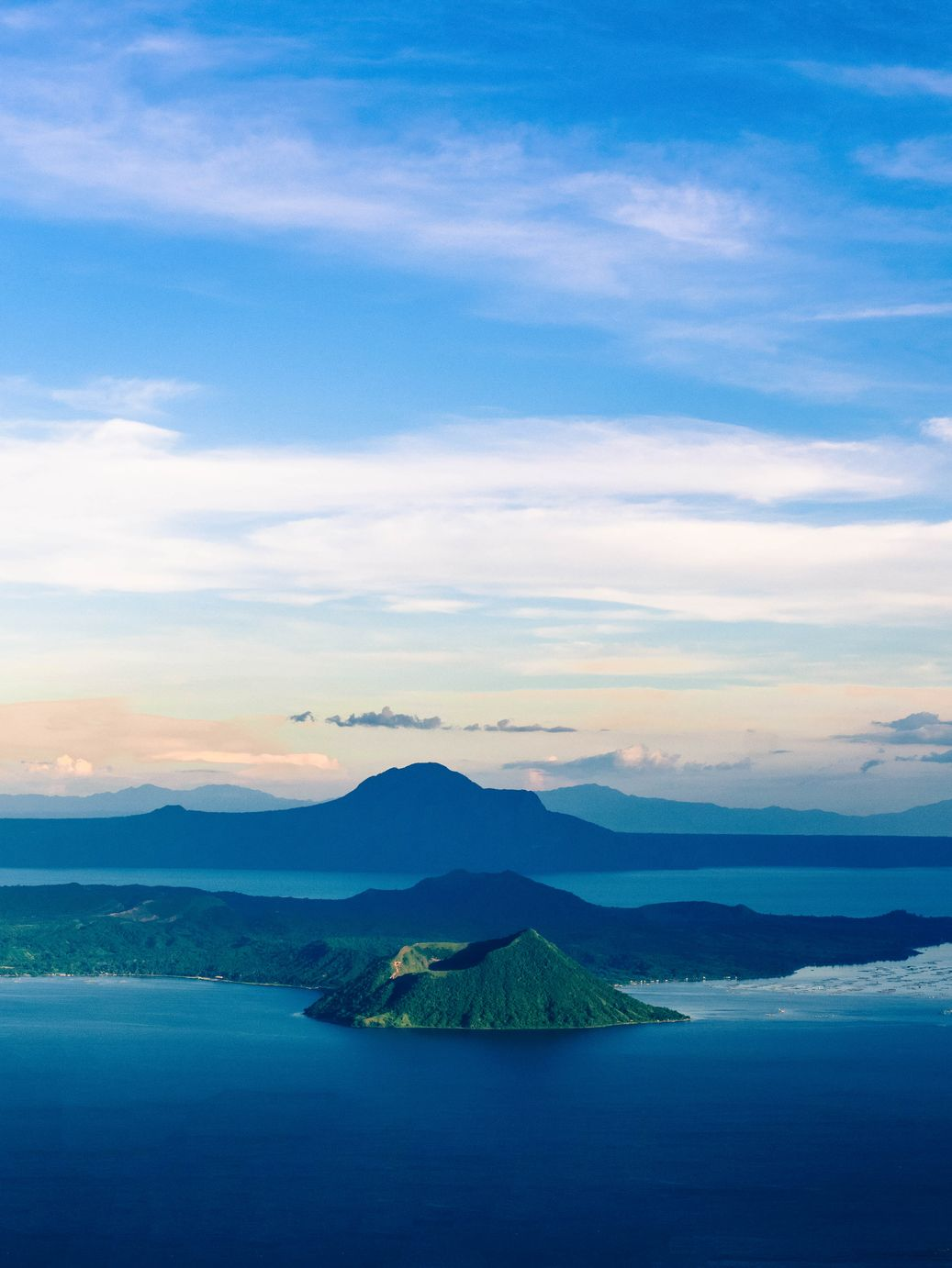 View of Taal Volcano, Philippines from a distance