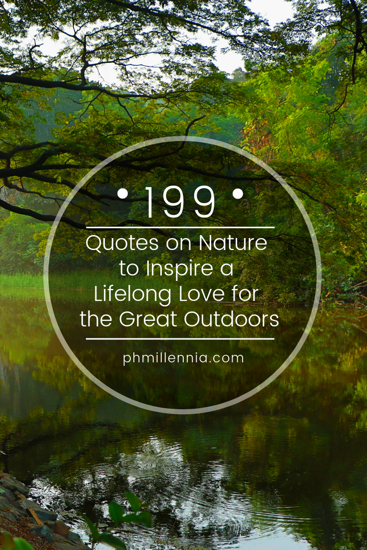 A graphic for a compilation of quotes on nature
