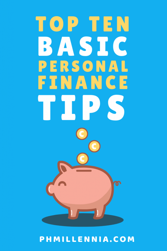 Pinterest Graphic for the article Top Ten Basic Personal Finance Tips