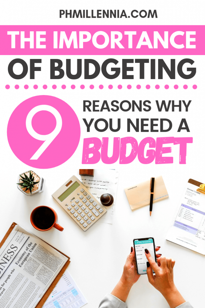 Pinterest Graphic for the article entitled The Importance of Budgeting: 9 Reasons Why You Need a Budget