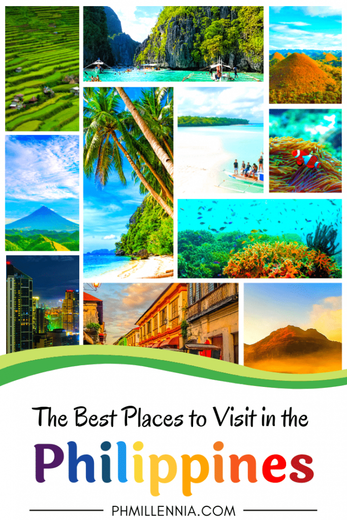 Pinterest Graphic for the article The Best Places to Visit in the Philippines
