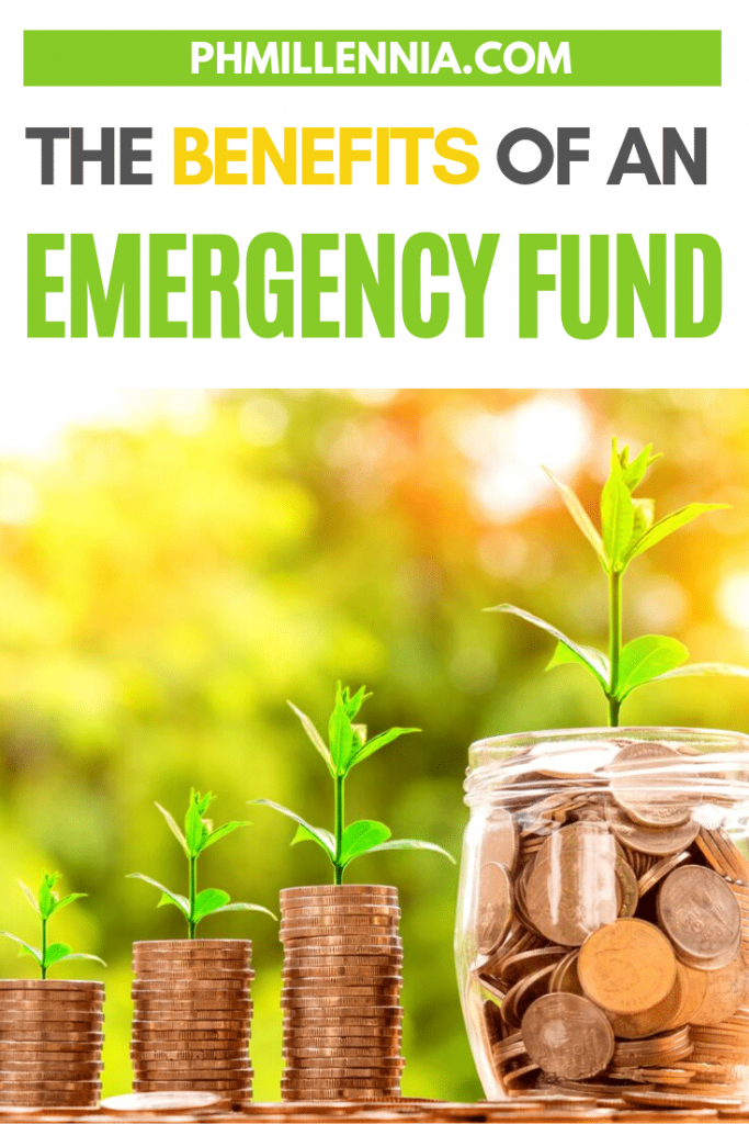 """Pinterest Graphic for the article entitled """"The Benefits of an Emergency Fund"""""""