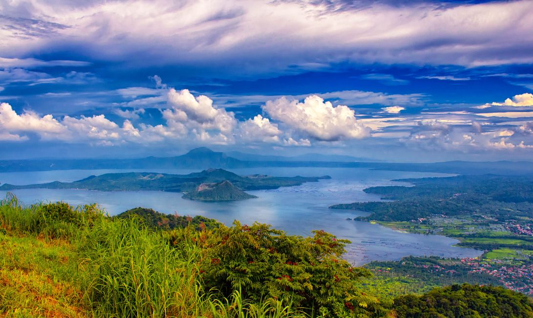 Taal Lake (and Volcano) as seen from the highlands of Tagaytay