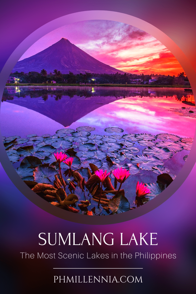 "A Pinterest graphic (pin) for the article ""The Most Scenic Lakes in the Philippines"" on phmillennia"