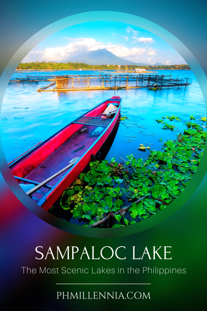 """A Pinterest graphic (pin) for the article """"The Most Scenic Lakes in the Philippines"""" on phmillennia"""