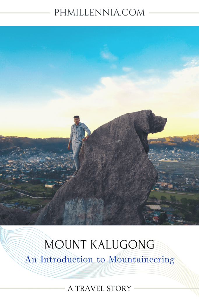 "A Pinterest graphic (pin) for the article entitled ""Mount Kalugong: An Introduction to Mountaineering"" by phmillennia"