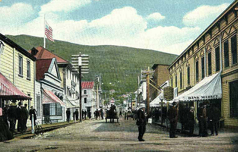 Old postcard of an old town