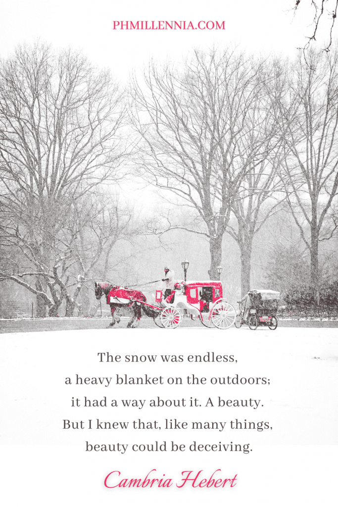 """A Pinterest Pin for the article """"100 Splendid Snow Quotes that Capture the Wonder of Winter"""" on phmillennia.com"""