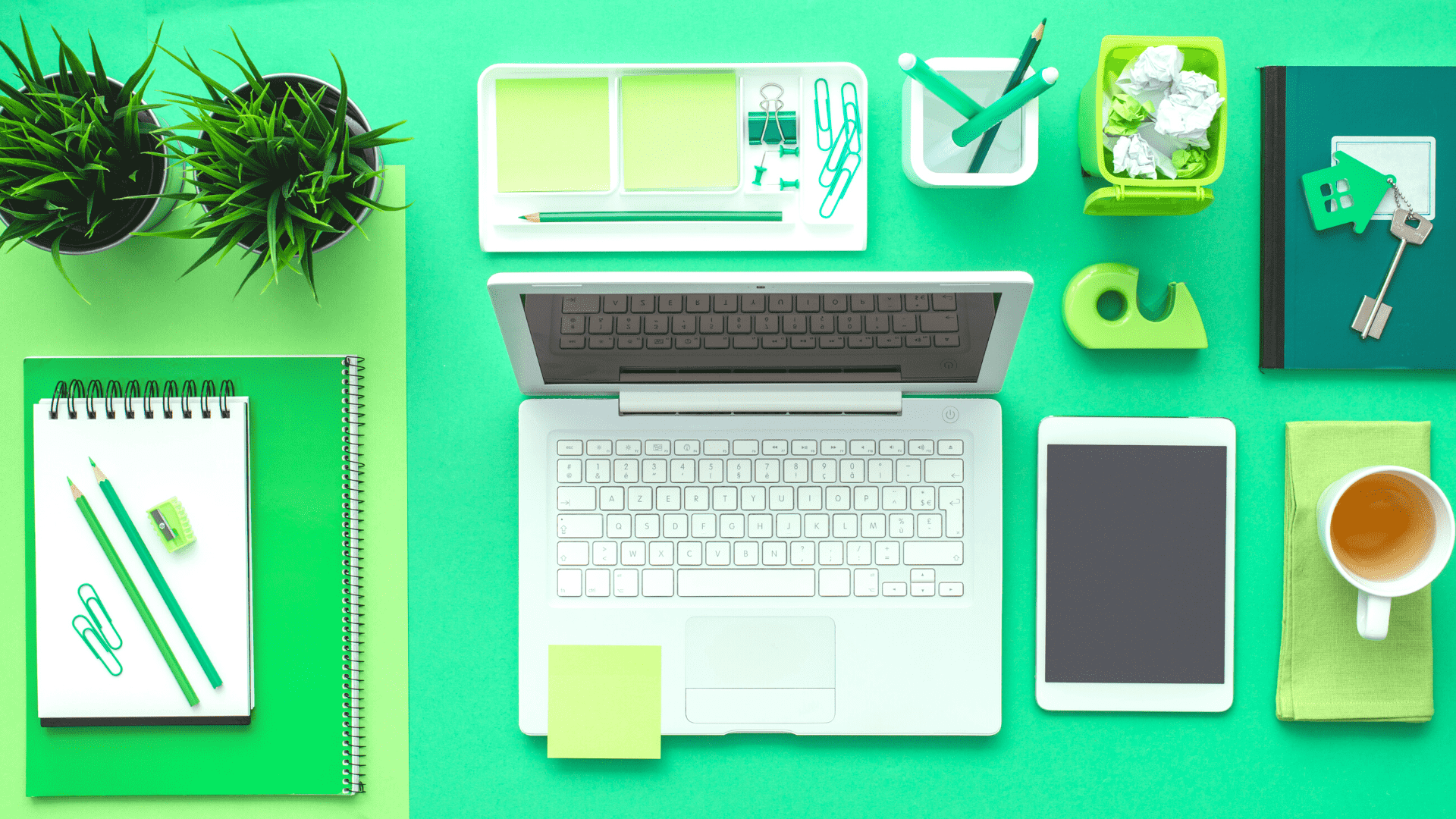"""An image of a well-organized desk, used as a featured image for the article """"Best Desk Organizers for a Clean and Clutter-Free Workspace"""" on phmillennia.com"""