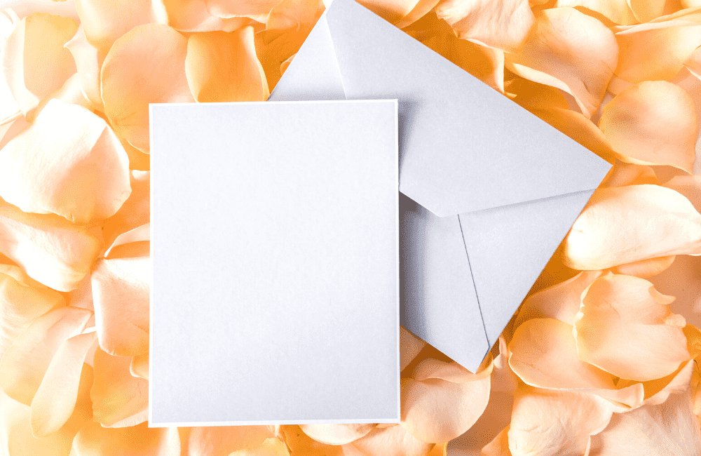 """An image of two envelopes on a background of flower petals, used as an image for the article """"It's 2021. Is It Too Late to Start a Blog? (Hint: It's Not, But You Should Find Out Why)"""" on phmillennia.com"""