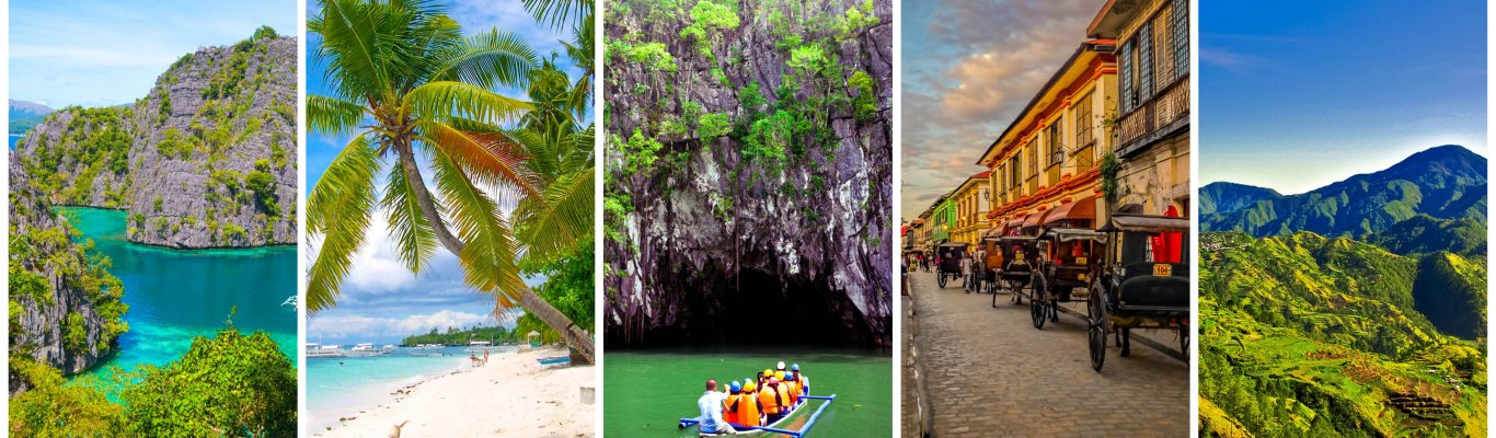 The most amazing places in the Philippines - Part 2 featuring Coron in Palawan, Panglao in Bohol, Underground River in Palawan, Vigan City in Ilocos Sur, and Sagada in Mountain Province, Philippines